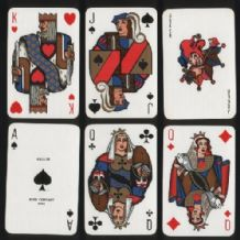 Collectible Non-standard playing cards  Miro for Esquire